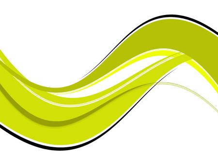 green ecology wave background Illustration