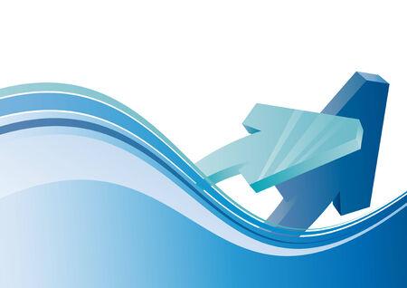 flecha azul: flecha azul de fondo