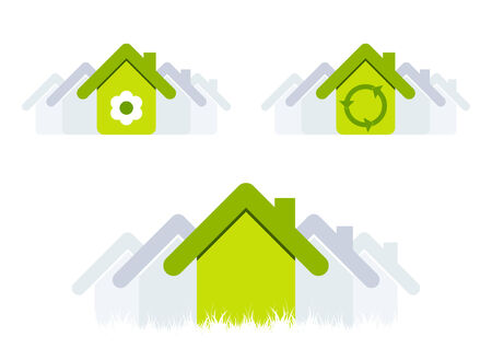 ecology house symbol Stock Vector - 3999906