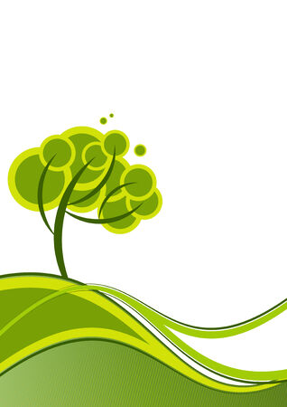 dynamic growth: ecology tree background