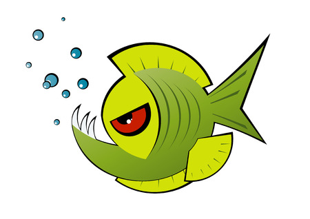 angry fish symbol Stock Vector - 4094669