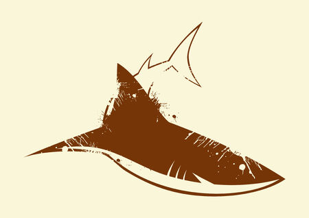 angry shark vintage symbol Stock Vector - 4094679