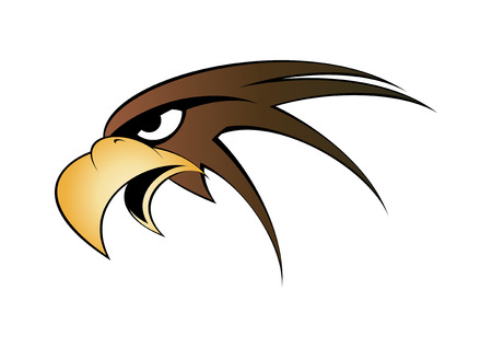 brown eyes: eagle head symbol Illustration
