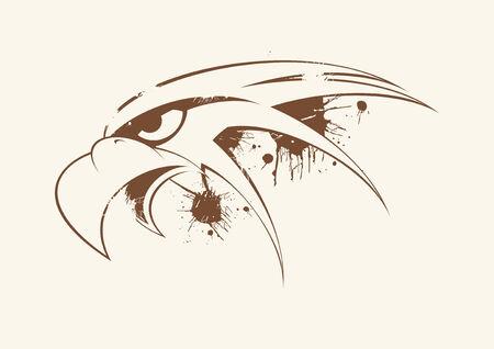 bad eyes: eagle head vintage Illustration