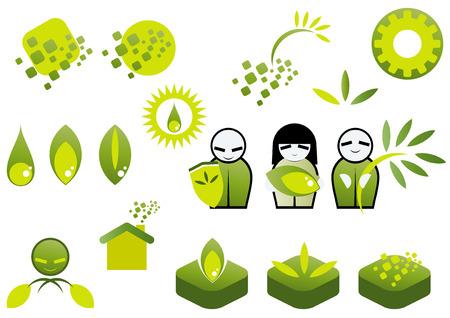 environment symbol collection Stock Vector - 4236912