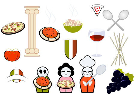 italian restaurant collection Vector
