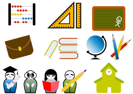 education symbol collection Vector