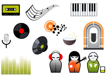 music symbol collection Vector