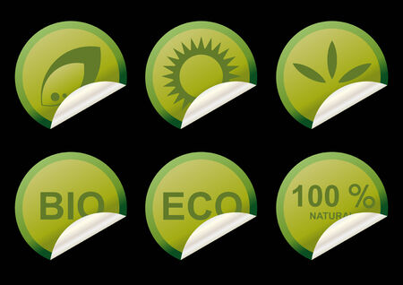 ecology sticker collection Stock Vector - 4269686