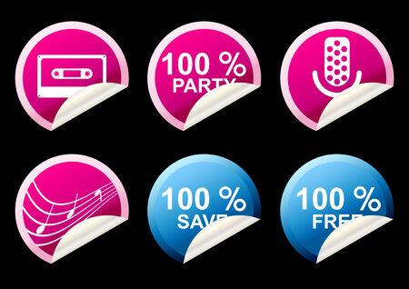 modern sticker collection Ilustração