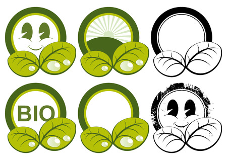 cute ecology symbols Stock Vector - 4377774
