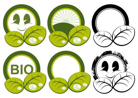 cute ecology symbols Stock Vector - 4377774