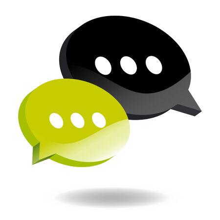 arguing: speech balloon symbol Illustration