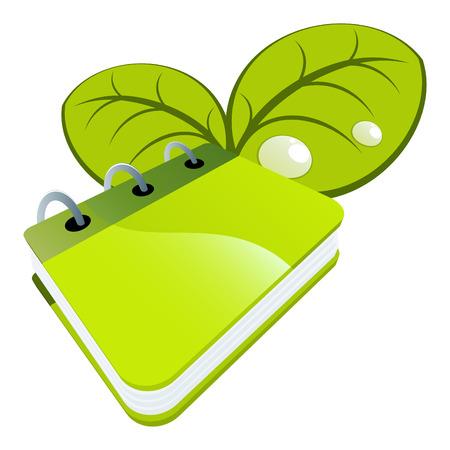 book logo: logotipo de libro de naturaleza