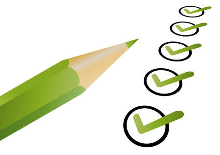 a round of inspection: election pen symbol