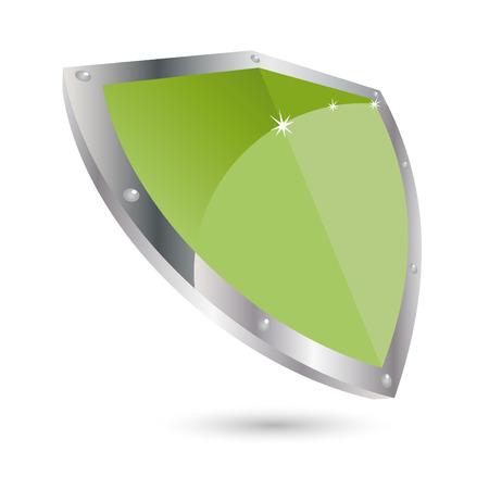modern shield icon Vector