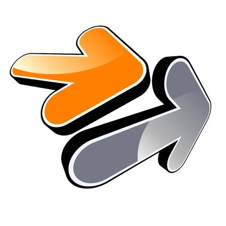modern arrow logo Vector