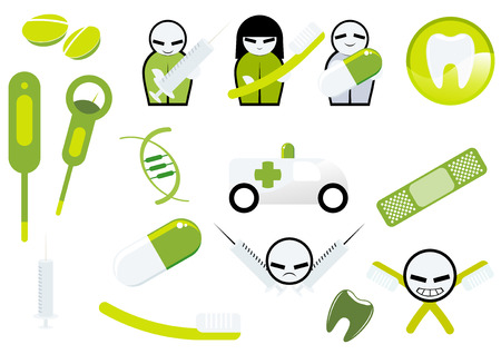 medical sign collection Vector