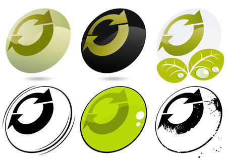 logo reciclaje: reciclado moderno logotipo