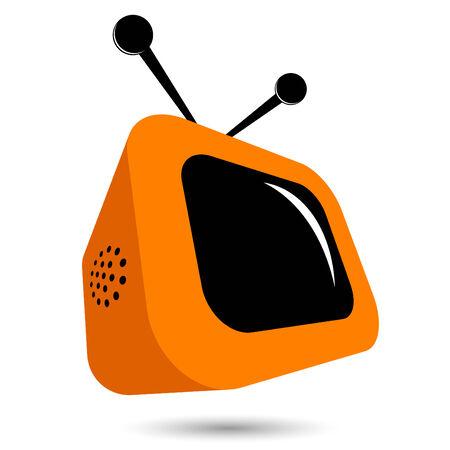 modern tv logo Vector