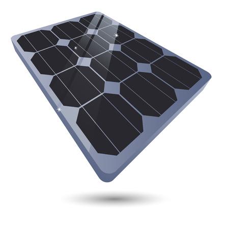 environmental science: solar cell symbol