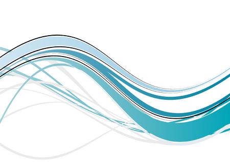 modern wave background Illustration