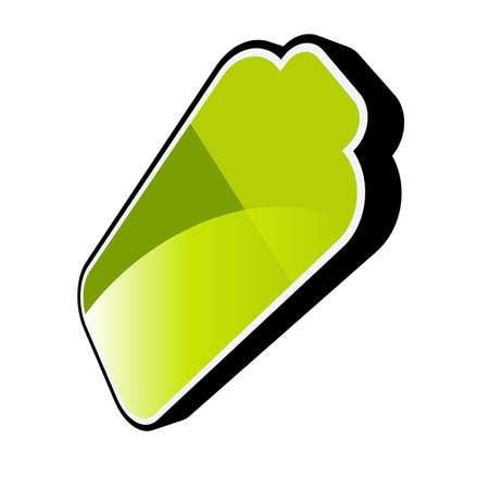 green battery logo Stock Vector - 4825173