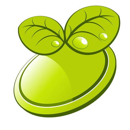 green nature logo Stock Vector - 4825180