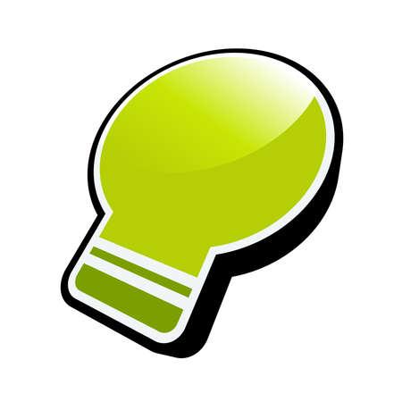 green bulb symbol Stock Vector - 4825171