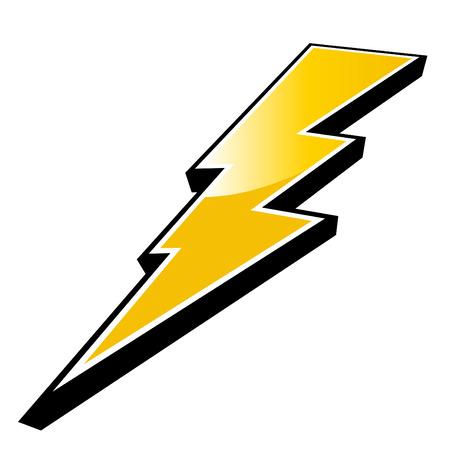 modern lightning logo Vector