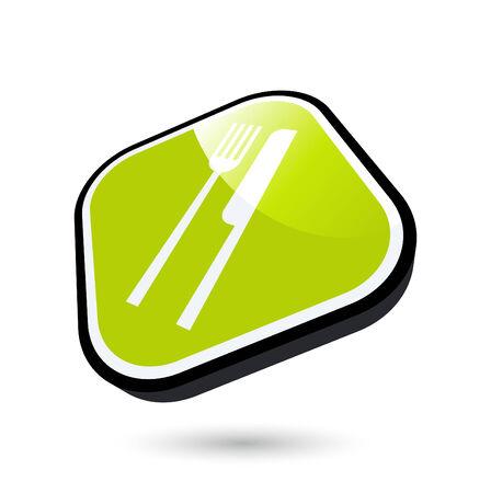 modern restaurant: modern restaurant logo Illustration