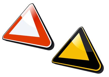 modern warning sign Vector