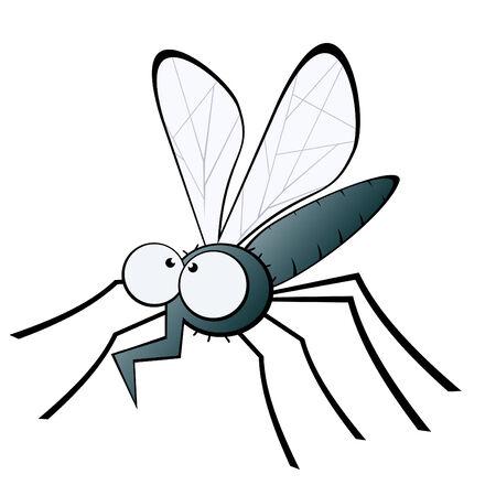 divertidos dibujos animados de mosquitos Foto de archivo - 5002033