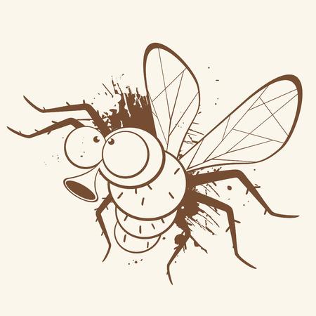 vintage cartoon fly Vector