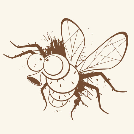 mosquito: vintage cartoon fly Illustration