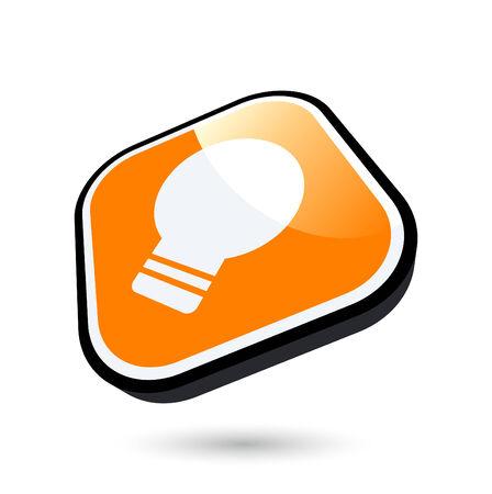 modern bulb sign Vector