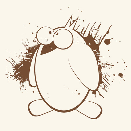 grunge cartoon penguin Stock Vector - 5002050