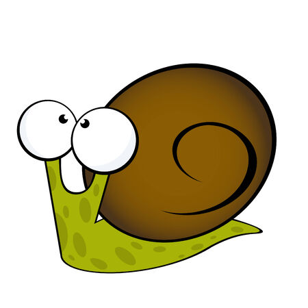 cochlea: funny cartoon snail