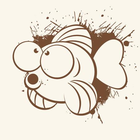 vintage cartoon fish Stock Vector - 5010414