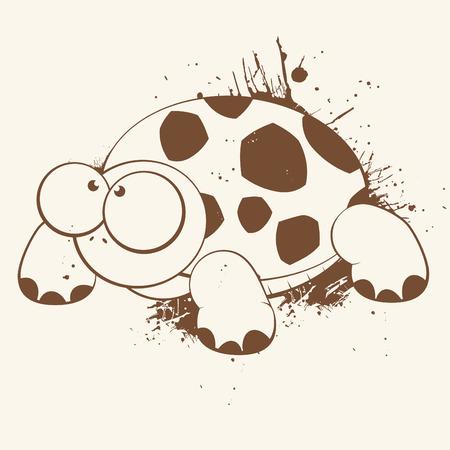 tortuga caricatura: la tortuga de dibujos animados antiguos