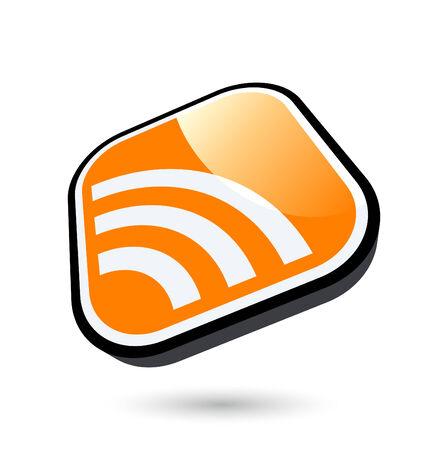 newsfeed: modern rss symbol