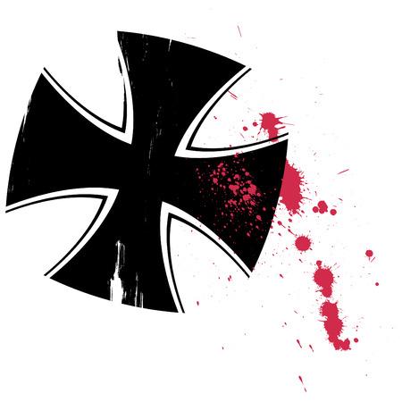 grunge Cross Zeichen