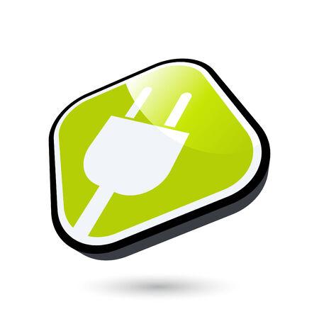 modern energy sign Vector