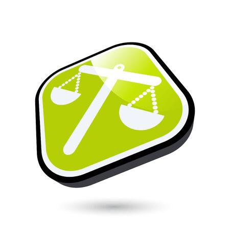advocate: modern justice sign Illustration