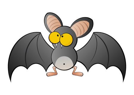 grappige cartoon vleermuis Vector Illustratie