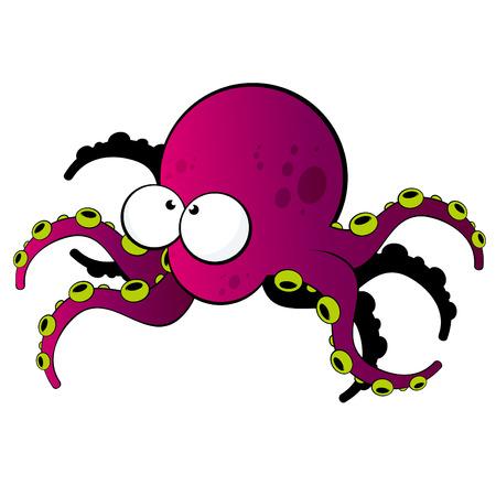 squids: funny cartoon squid