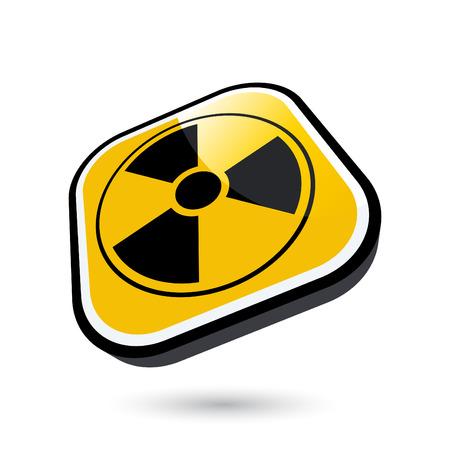 modern nuclear sign Vector