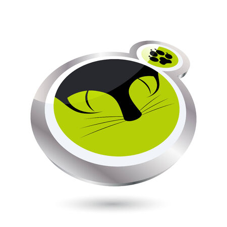 modern cat sign Stock Vector - 5445164