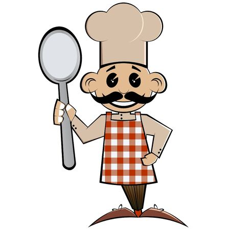 funny cartoon cook Stock Vector - 7332920