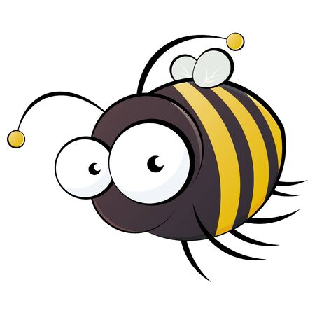bumblebee: funny cartoon bee